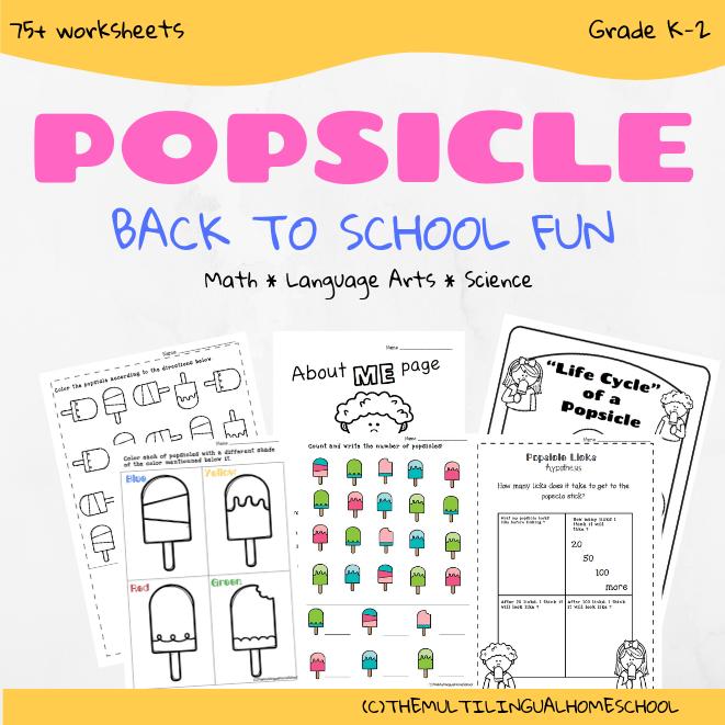 Back to School Popsicle Fun