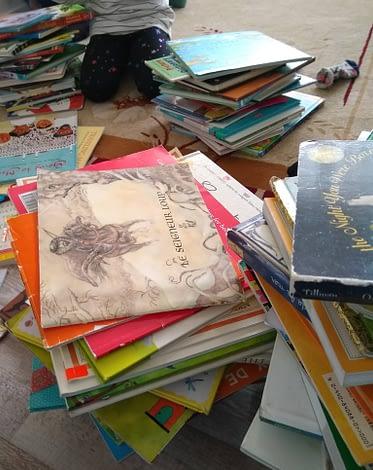 Stacks upon stacks of books