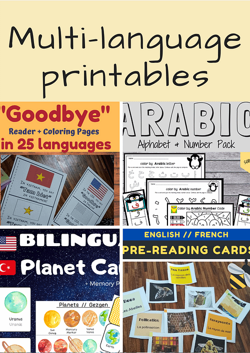 multilingual printables