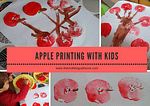 How to Print Apples with Kids homeschool