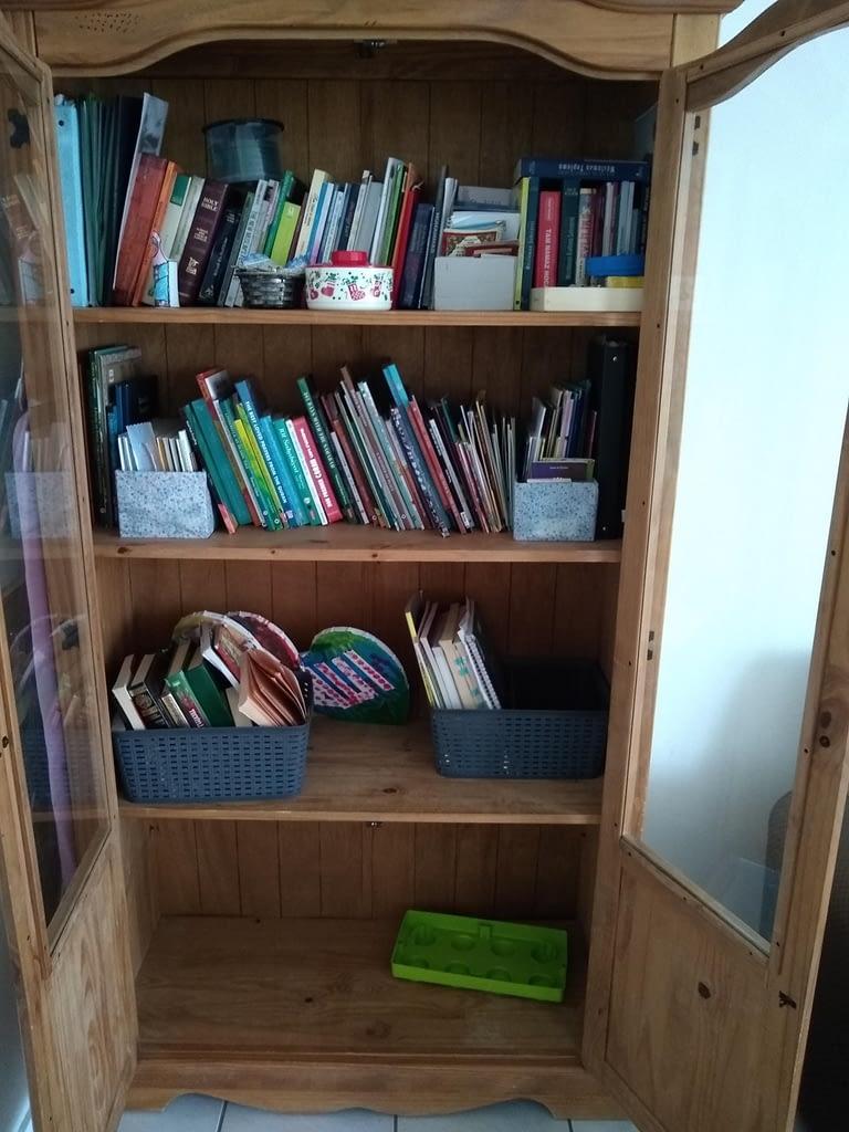 Bookshelves where we store our books