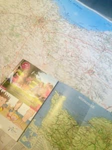 Mapping out our way to Normandy coast