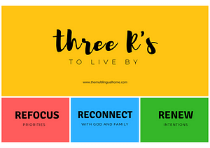Three R's to live by